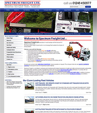 Web Site Design Chesterfield - Spectrum Freight
