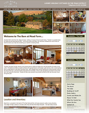 Holiday Cottage and Holiday Rental Self Maintained Website Design