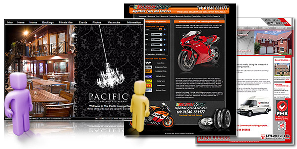 Website Design and Self Maintained Websites - Lee Marsh Design in Chesterfield